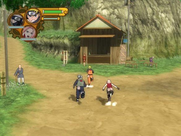 Naruto Shippuden Ultimate Ninja 5 - Gameplay Playstation 2