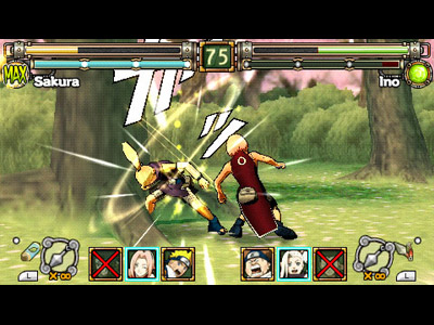 Naruto Ultimate Ninja Heroes - PSP Gameplay
