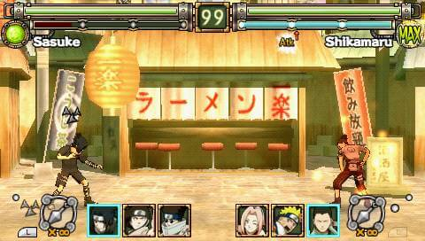 Naruto: Ultimate Ninja Heroes - PSP Gameplay