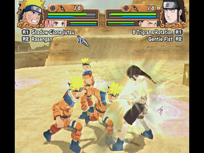 Naruto Uzumaki Chronicles 2 - Gameplay PS2