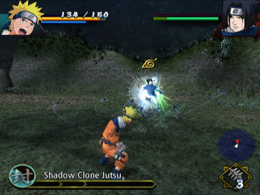Naruto Uzumaki Chronicles - Gameplay PS2