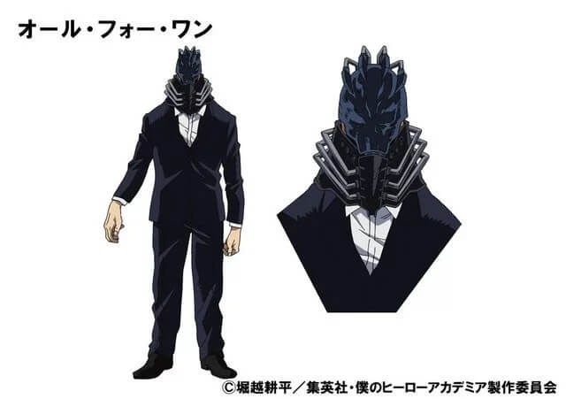 Boku no Hero Academia - Anime revela Design para All For One