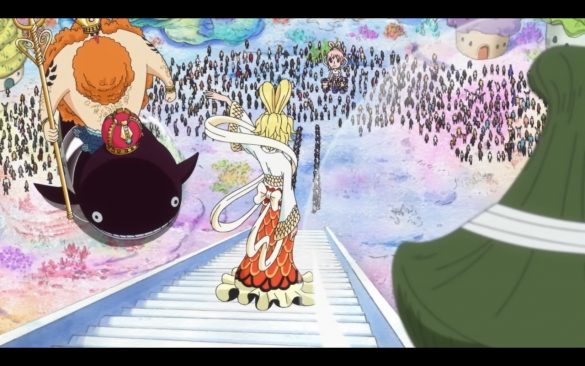 One Piece Episódio 545 - Fishman Island Shakes! The Landing of a Celestial Dragon