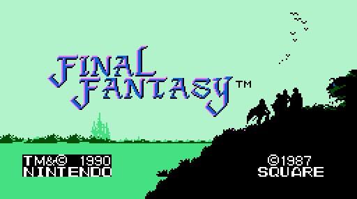Top 13 jogos da série Final Fantasy - Final Fantasy I menu
