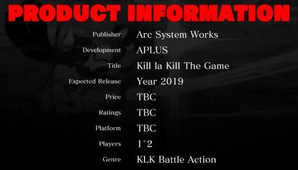 Studio Trigger e Arc System Works revelam jogo de Kill la Kill