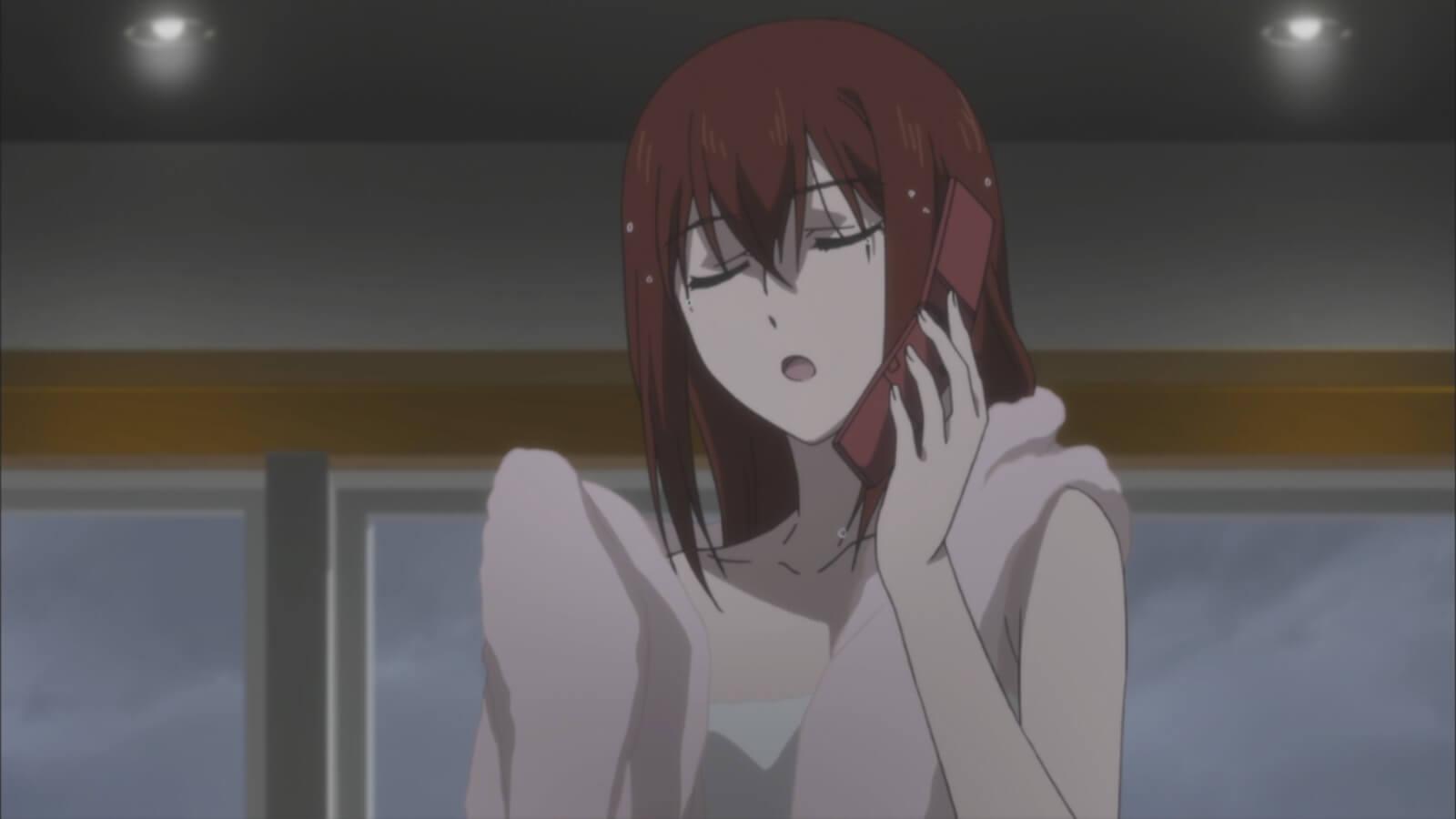 Steins;Gate 0 - opinião episódio 8 Kurisu ao telefone