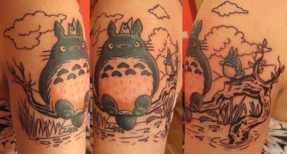 tatuagens inspiradas no universo Anime - Totoro