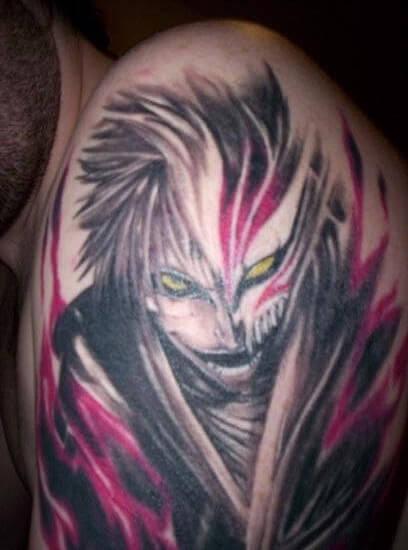 tatuagens inspiradas no universo Anime - Hollow Ichigo
