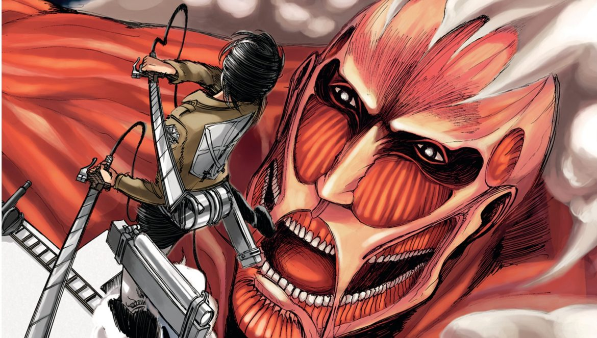 Capa Volume 1 Attack on Titan - Manga | Attack on Titan - Live Action Hollywood com Realizador de 'It'