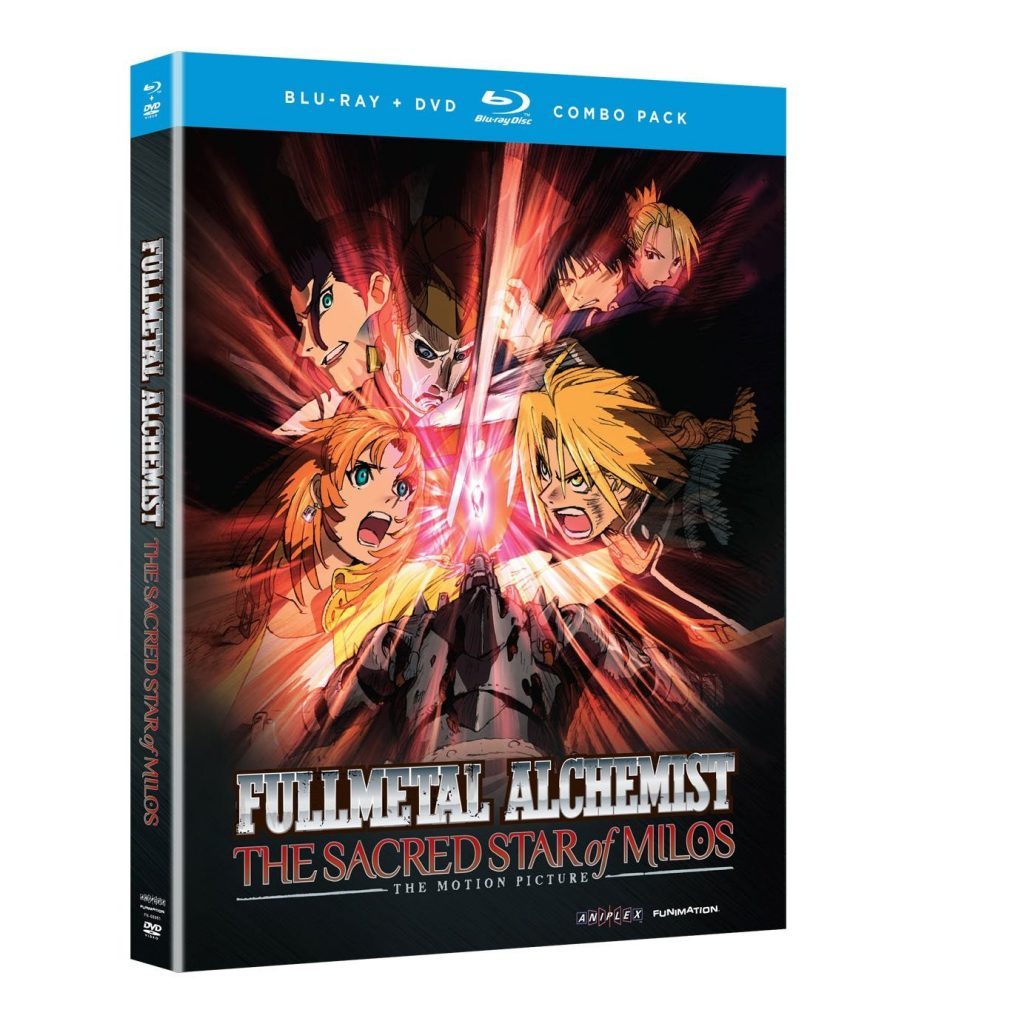 DVDs Blu-rays Anime Abril 2012 - Fullmetal Alchemist Brotherhood The Sacred Star of Milos Combo Pack
