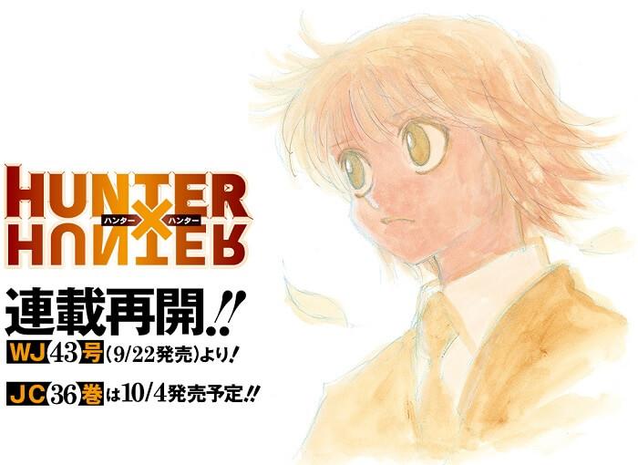 Hunter X Hunter - Manga REGRESSA em Setembro