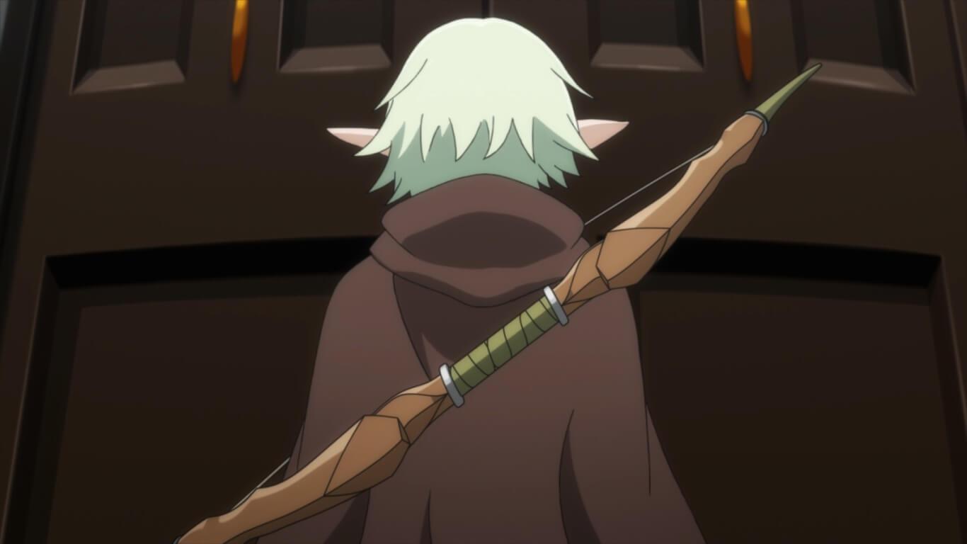 Goblin Slayer - Episódio 3 Opinião elfo a entrar na guild