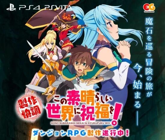 KonoSuba vai receber Dungeon RPG para PS4 e PS Vita
