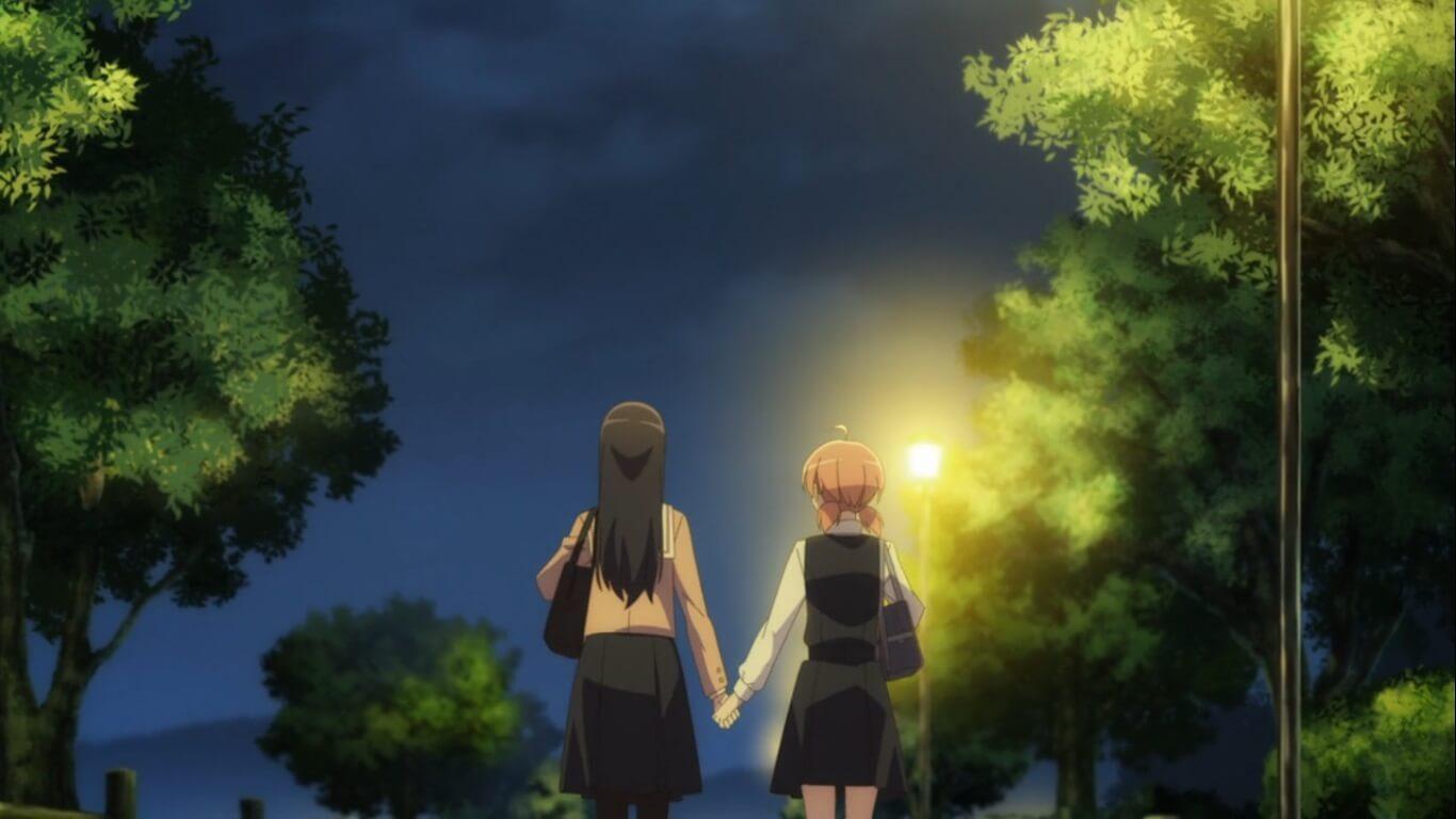 Bloom Into You - Episódio 6 Opinião yuu e nanami mãos dadas