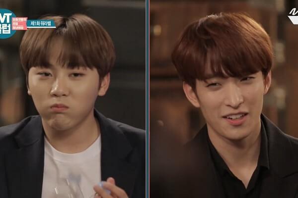 DK e Seungkwan dos SEVENTEEN – Competir um com o outro