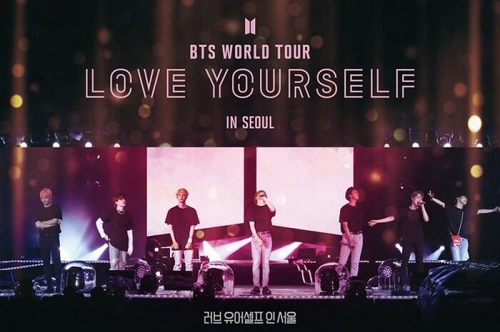 Filme Concerto Love Yourself In Seoul dos BTS terá o Maior Lancamento de Cinema da História