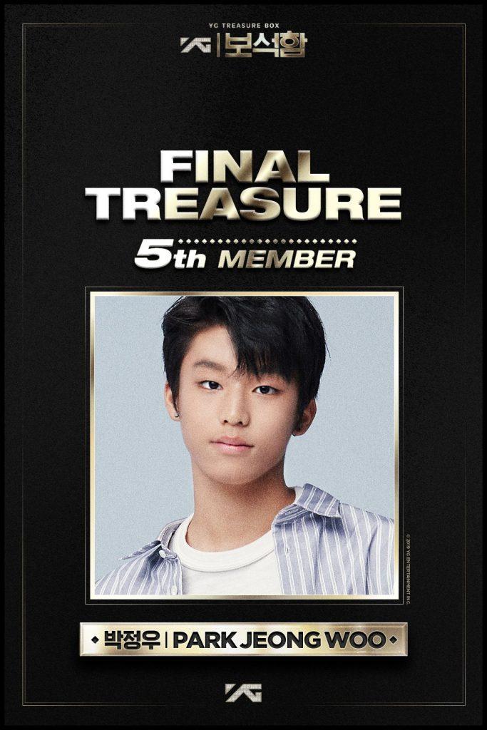 Jeongwoo YG anuncia 5 Membro para o Novo Grupo do YG Treasure Box