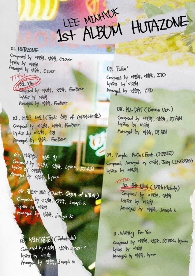 Minhyuk dos BTOB revela lista de música para álbum a solo incluindo Colaborações com Yook Sungjae, Soyeon das (G)I-DLE e muito mais!