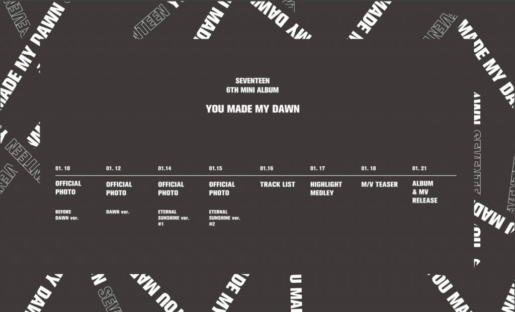 "SEVENTEEN lançam Agendamento para Comeback com ""You Made My Dawn"""