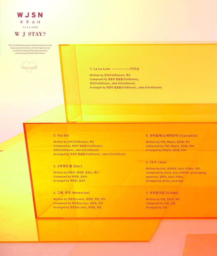 "WJSN revelam tracklist para Comeback ""W J STAY?"""