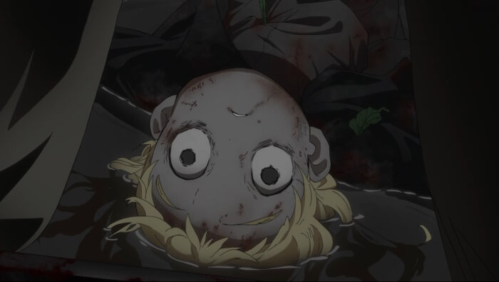 yakusoku no neverland episodio 1 conny morte