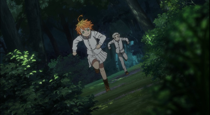yakusoku no neverland episodio 1 emma como personagem