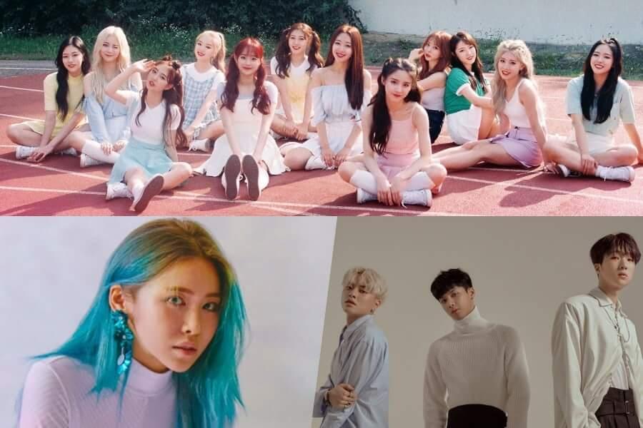 Kpop – Grupos que Regressam em Fevereiro 2019 loona trei suren