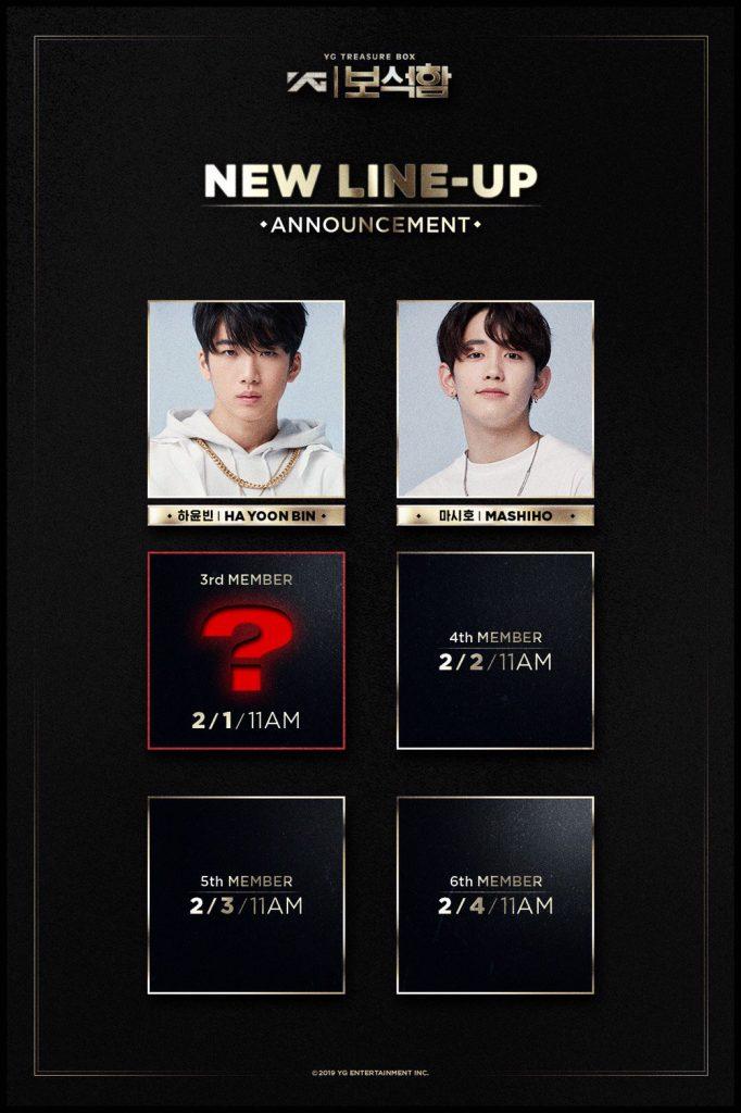 """YG Entertainment revela 2º Membro do 2º Grupo do """"YG Treasure Box"""""""