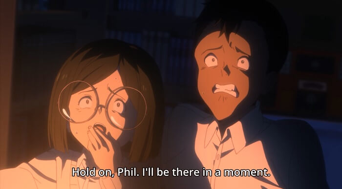 Yakusoku no Neverland episodio 6 phil frase 2