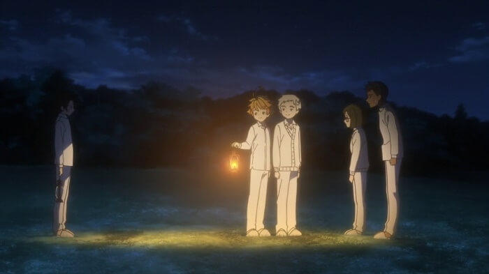Yakusoku no neverland episodio 6 ray luz 1