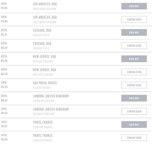 BTS anunciam Datas de Concertos adicionais para Estadios Esgotados com a Love Yourself