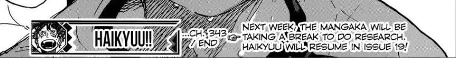 Haikyuu Manga Capítulo 344 Adiado