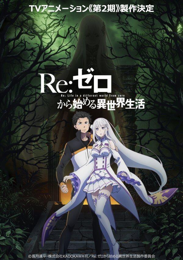 Re:Zero - Segunda Temporada revela Artistas dos Temas