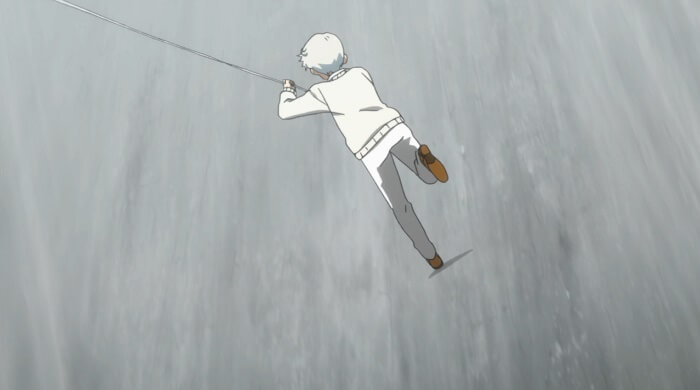 Yakusoku no neverland episodio 9 penhasco norman corda 1