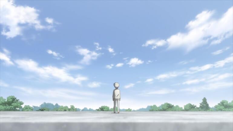 Yakusoku no neverland episodio 9 penhasco norman corda destaqueYakusoku no neverland episodio 9 penhasco norman corda destaque