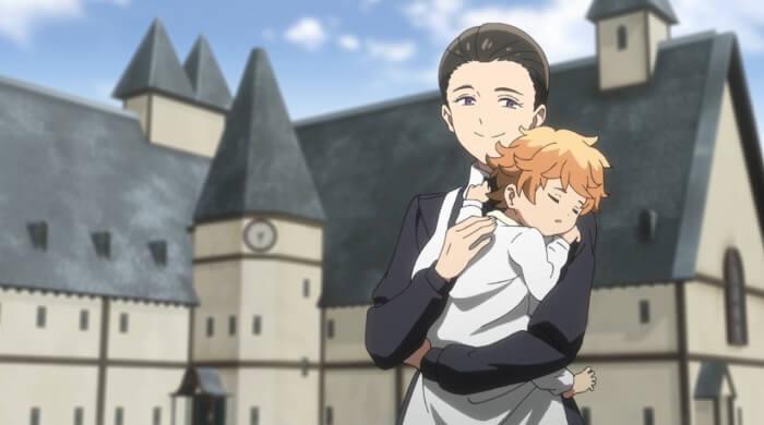 yakusoku no Neverland episodio 9 mae e emma