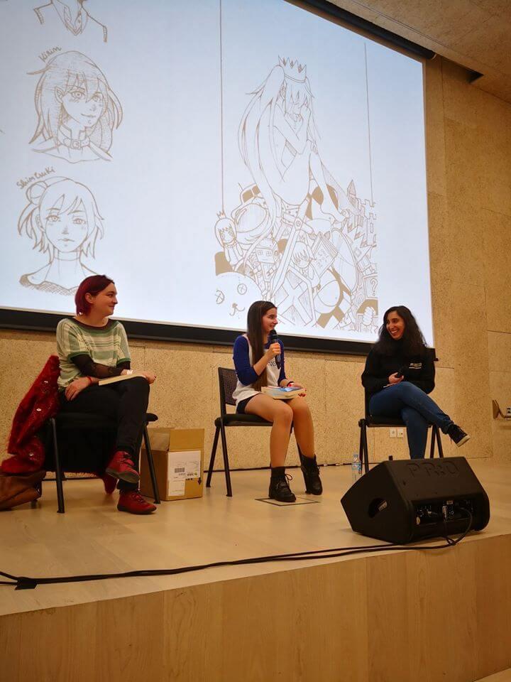 AONime 2019 - Reportagem - Apresentação Livro Olga, Sofia Neto e Raquel Cupertino