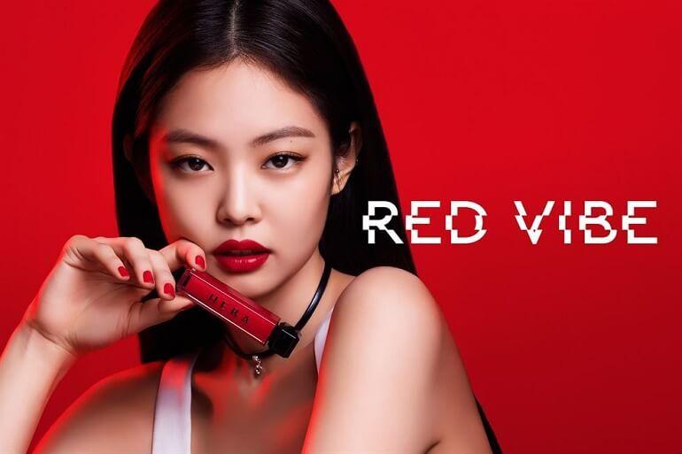 Hera x Jennie - Colecao Red Vibe Lip