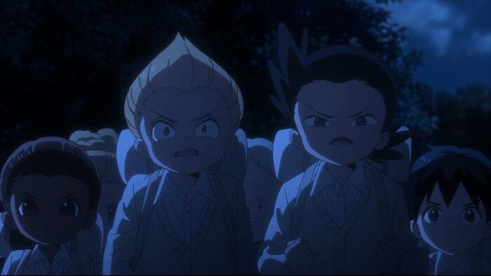 yakusoku no neverland episode 12 criancas penhasco