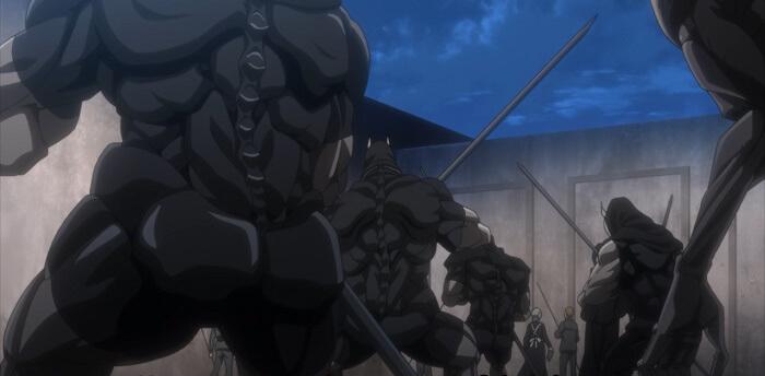 yakusoku no neverland episode 12 demonios gluteos
