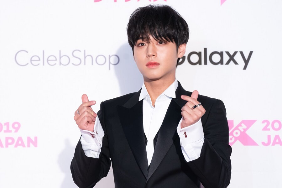 Ídolos de Kpop brilham na Red Carpet da KCON 2019 Japan Park Ji Hoon