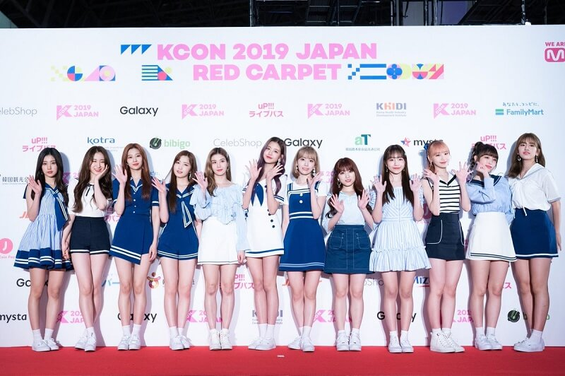 Ídolos de Kpop brilham na Red Carpet da KCON 2019 Japan izone