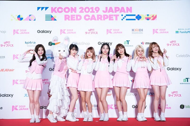 Ídolos de Kpop brilham na Red Carpet da KCON 2019 Japan pink fantasy