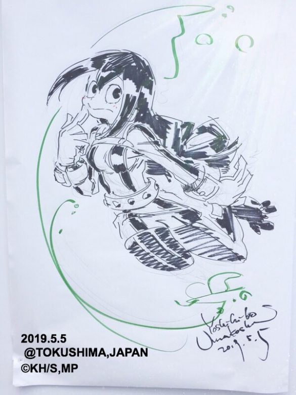 Boku no Hero Academia – Designer de Personagens partilha Desenhos Ao-Vivo