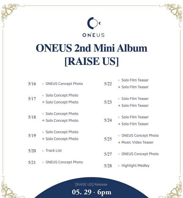 ONEUS anunciam primeiro Comeback com Raise Us com Cronograma