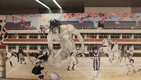 Shueisha e Kodansha colaboram em Mural de 30 Metros
