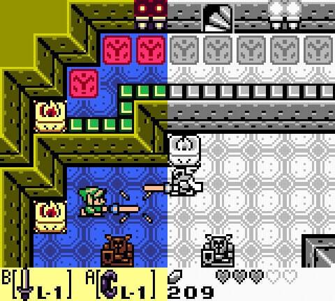 Zelda: Link's Awakening/DX – O primeiro jogo portátil da Franquia - cores vs sem cores