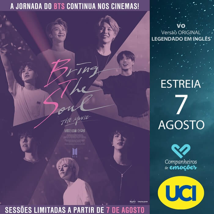 Bring The Soul The Movie - Filme dos BTS pela NOS e UCI POSTER UCI
