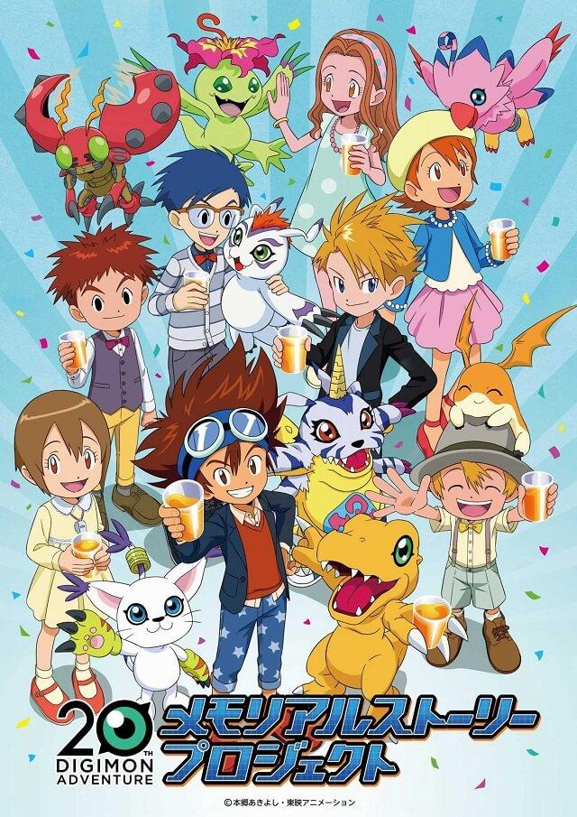 Digimon - 5 Curtas planeadas para o Memorial Story Project