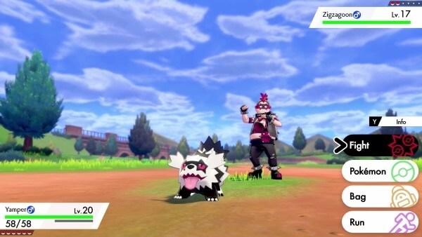 Pokémon Sword & Shield - Pessoa a combater